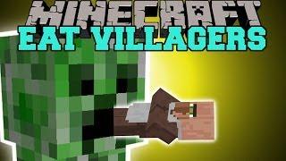 Minecraft: EAT VILLAGERS (GET EMERALDS THE EASY WAY!) Mod Showcase