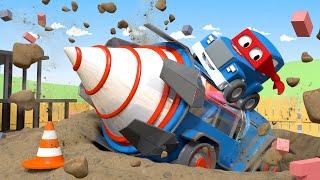 ジャイアントドリル The Giant Drill 🚚⍟スーパートラッ l 子供向けトラックアニメ Super Truck Animation for Kids