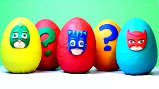 PJ MASKS Surprise Eggs Play Doh Eggs Opening