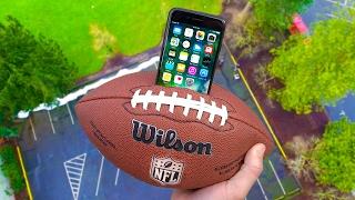 Can iPhone 7 Survive 100 FT Drop Test inside Football? (NFL Super Bowl Episode!)