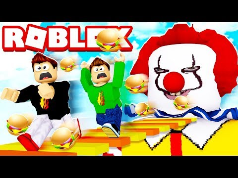 ROBLOX ESCAPE MCDONALDS OBBY WITH MY LITTLE BROTHER