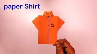 DIY ! How to make paper shirt | origami paper crafts | Simple paper shirt | TF
