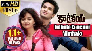 Karthikeya Songs || Inthalo Ennenni Vinthalo || Nikhil Siddharth, Swati Reddy || Full HD 1080p..