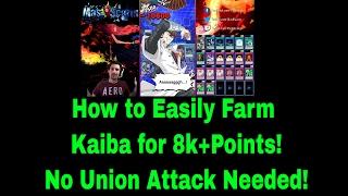 Easily Farm Kaiba Lvl 40 8k+ Points NO UNION ATTACK NEEDED! - YuGiOh Duel Links