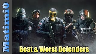 Best & Worst Defense Operators - Rainbow Six Siege