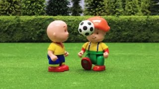 Funny Animated Cartoon   Caillou and Leo play football   WATCH ONLINE   Caillou Stop Motion