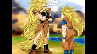 Super Saiyan 4 Nappa Raditz and Turles