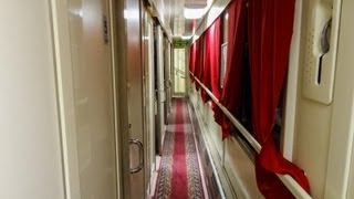 First Class Coach, Russian Train, Inside, Russian Girl Travels to Portugal. Day 1.