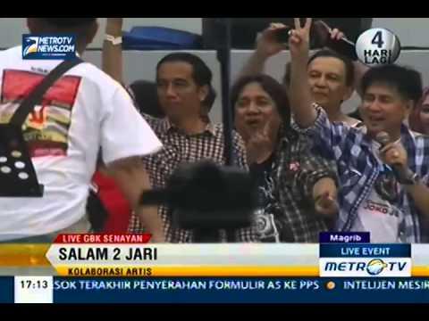 Konser Salam 2 Jari, Slank dan Jokowi - Salam 2 Jari