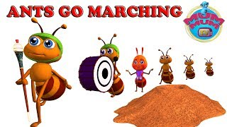 The Ants Go Marching Song with Lyrics - Nursery Rhymes For Kids | Children Songs By Mum Mum TV
