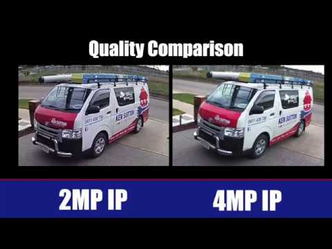 CCTV Quality Comparison 2MP v 4MP Comparison | Sunbury CCTV | Melton CCTV