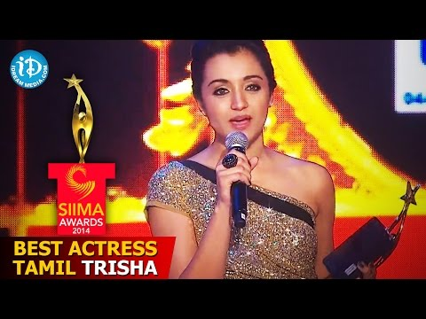 SIIMA 2014 Award for Best Actress Tamil | Trisha | Endrendrum Punnagai Movie