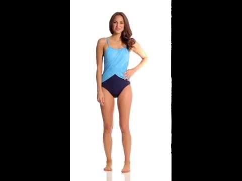 Gabar Coast Line High Neck Underwire One Piece | SwimOutlet.com