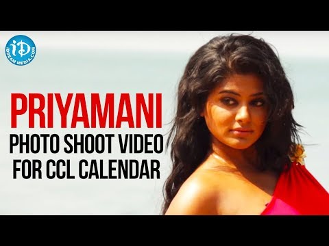 Priyamani Latest Bikini Photo Shoot Video For CCL Calendar