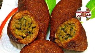 طريقة عمل كبة البرغل بدون هبرة وبدون ماكينة  روعة و مقرمشة  l عمل الكبه التركيه l kubba recipe