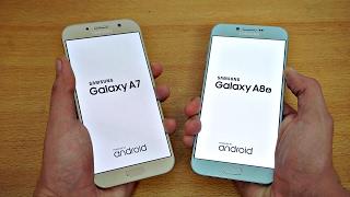 Samsung Galaxy A7 (2017) vs Galaxy A8 (2016) - Speed Test! (4K)