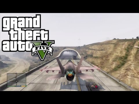 JETLE TÜNELDEN GEÇMEK! - Grand Theft Auto 5 Challenge (Jet Through Tunnel)