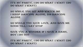 Jessie J - It is My Party (Lyrics on screen)