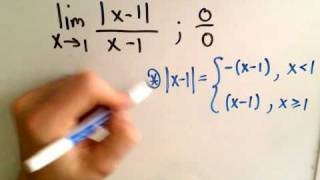 Limits Involving Absolute Value