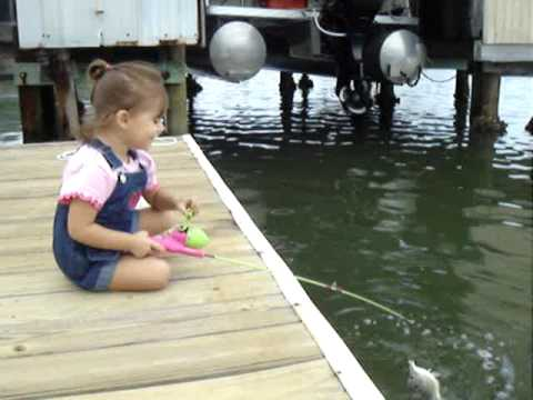 2 year old girl fishing catch and release get em karley