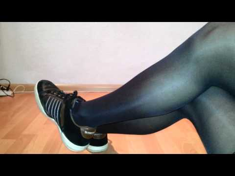 Black pantyhose and sneakers for a slave