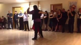 Roberto Zuccarino y Magdalena Valdez dancing with Claudio Marinig y Sara Barile