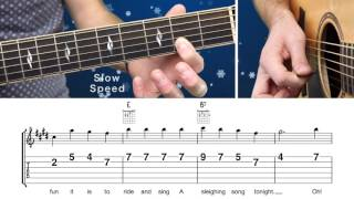 How To Play 'Jingle Bells' EASY Guitar Lesson