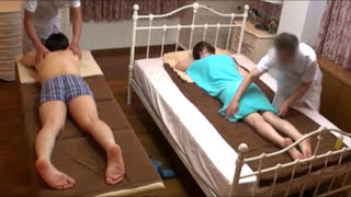 Boy friend and girl friend soft oil massage