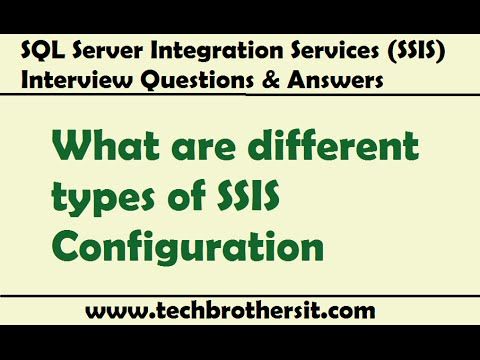 SSIS Interview Questions Answers | What are different types of SSIS Configuration
