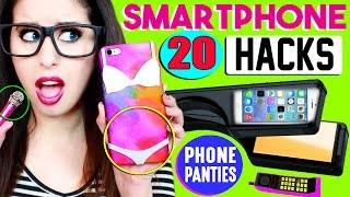 20 Smartphone, iPhone & Android Hacks For School | Phone Panties, Candy Stylus Pen & Mini Mic!