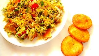 popular indian taste spicy snack  (bhel puri)