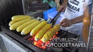 grilled corn on the cob   Jagung bakar Bali street food