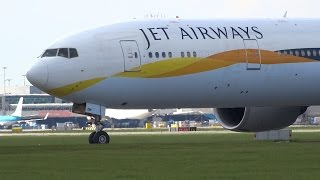 Close Up Big Aircraft Taking Off Schiphol Airport