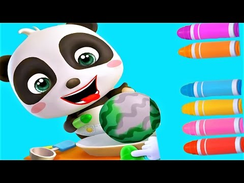 Baby Learn Colors Fruits & Play With Baby Panda Fun Baby Games & Video
