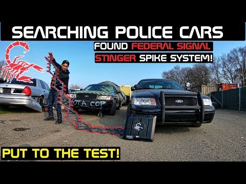 Searching Police Cars Found Stinger Spike System Crown Rick Auto