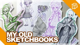 BOOK 10 - (Age 20) -- My Old Sketchbooks! ( February 2014 - April 2014) | DrawingWiffWaffles