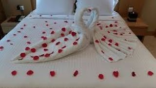 Best of Honeymoon Bed Towel Art