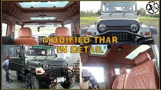 MODIFIED MAHINDRA THAR CRDe 2017 | Price Details with BENTLEY INTERIORS & SUNROOF | Plus DRONE Shots