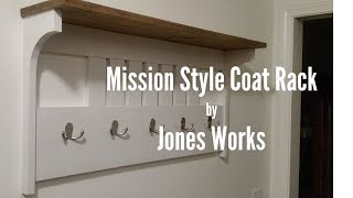 Mission Style Coat Rack by Jones Works - 5