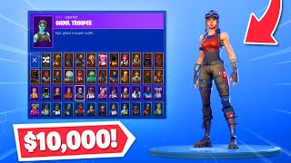 My $10,000 Fortnite skin locker! (99% COMPLETE)
