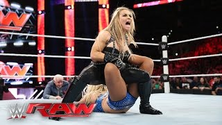 Natalya vs. Charlotte - WWE Women's Championship Match: Raw, April 11, 2016