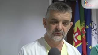 Dr. Júlio Nóbrega/ Enf. Abel – director e enfermeiro chefe do serviço medicina intensiva