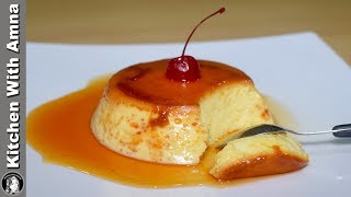 Caramel Egg Pudding Recipe Without Oven - Easy Dessert Recipe - Kitchen With Amna