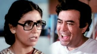 Deepti Naval takes Sanjeev Kumar home - Super Comedy Scene - Angoor
