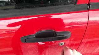 Pick a car lock