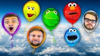 Puppets on Helium! Kermit the Frog & Elmo Ft Big Bird & Cookie Monster