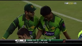 Pakistan destroyed Australian batting for just 89 runs 1st t20 2012