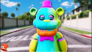 BRAND NEW RAINBOW FREDDY ANIMATRONIC! (GTA 5 Mods For Kids FNAF RedHatter)