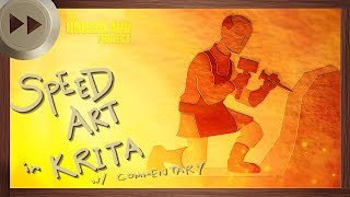 Bartholomew of Sandwich Concept - KRITA BLENDER SPEED ART VLOG | The Underland Project - EPISODE 4