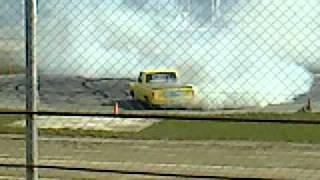 Ford F100 V8 supercharged 700hp, at the South Island Summer Burnout Comp round 1